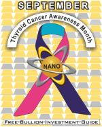 Thyroid Cancer Awareness Gold Nano Ribbon