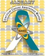 Cervical Cancer Awareness Gold Nano Ribbon