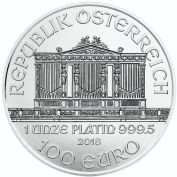 1 oz. Platinum Austrian Vienna Philharmonic Bullion Coin
