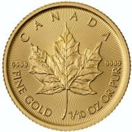 1/10th oz. Gold Canadian Maple Leaf