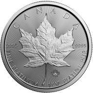1 oz. Platinum Canadian Maple Leaf Bullion Coin