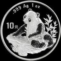 1998 chinese silver panda
