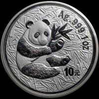 2000 chinese silver panda