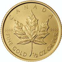 1/2 oz. Canadian Gold Maple Leaf Bullion Coin