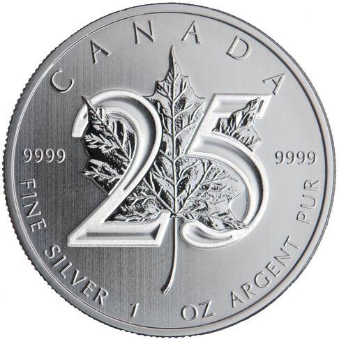 25th anniversary silver maple leaf