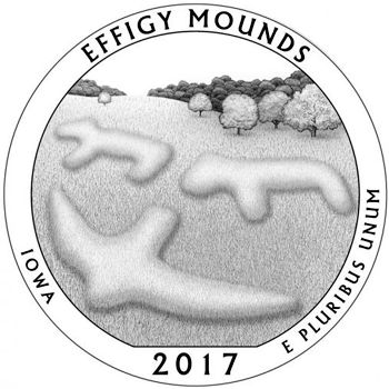 5oz atb effigy mounds - iowa coin