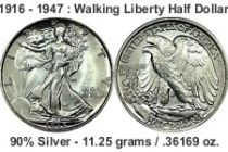 walking liberty halfdollar