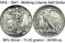 walking liberty halfdollar