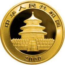 2000 gold panda obv