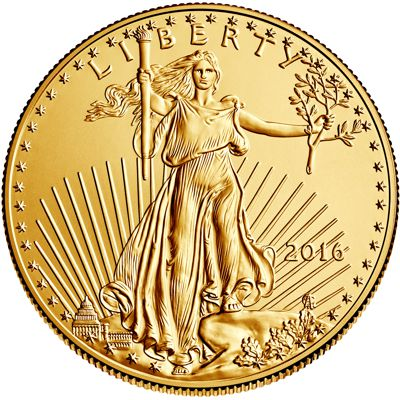 1 oz american eagle gold - obverse