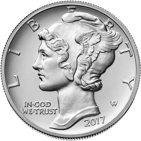 1oz. American Eagle Palladium Bullion Coins - obverse