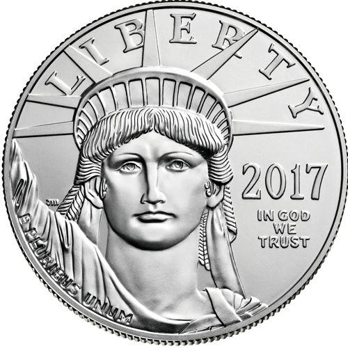 one oz platinum eagle - obverse