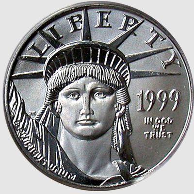 half oz platinum eagle - obverse