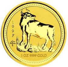 gold lunar coin