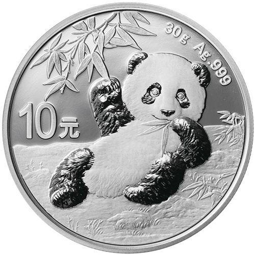 silver chinese panda