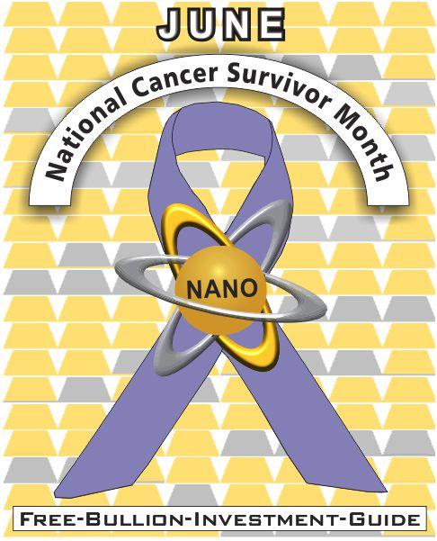 june national cancer survivor gold nano ribbon