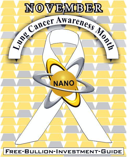 lung cancer awareness - gold nano ribbon