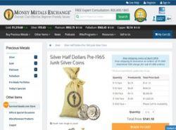 money metals exhange halfdollar junk silver screenshot