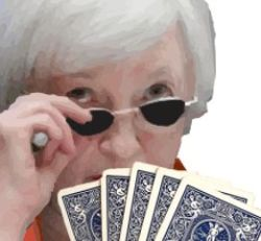 yellen holding cards