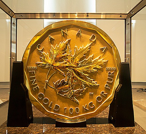 100 kg gold mapleleaf