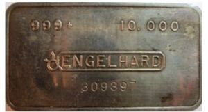10oz engelhard silver bar