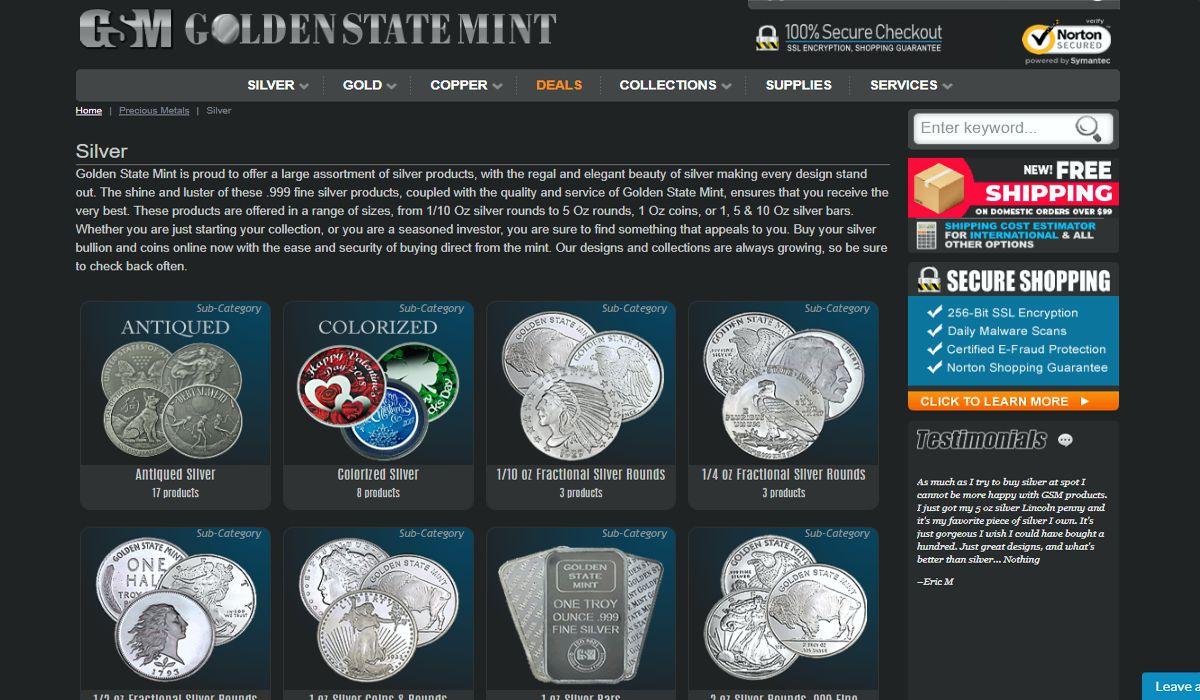 GoldenStateMint silverpage