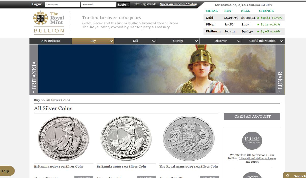 the royal mint silver coins