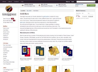 goldeneagle coins gold bars page