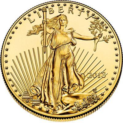 obv american eagle gold