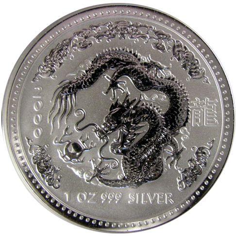 one oz silver lunar dragon
