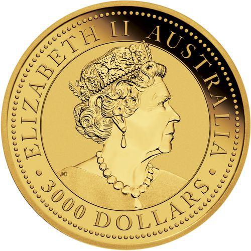 one kilo gold kangaroo - obverse side