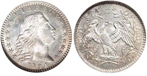 1794 silver half dime