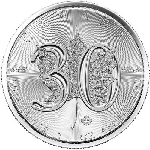 30th anniversary silver maple leaf