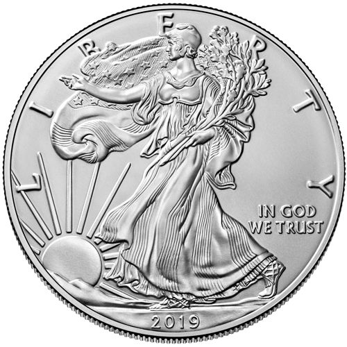 1oz american eagle silver bullion coin obv