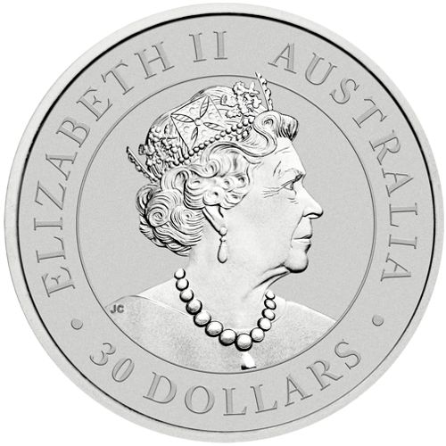 one kilo silver koala - obverse side