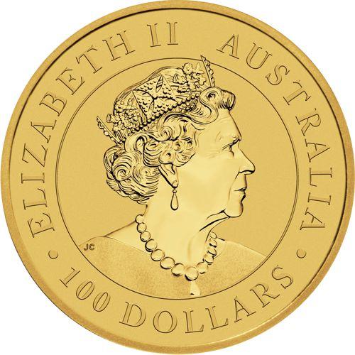 1 oz. Australian Gold Kangaroo Bullion Coin - Obverse