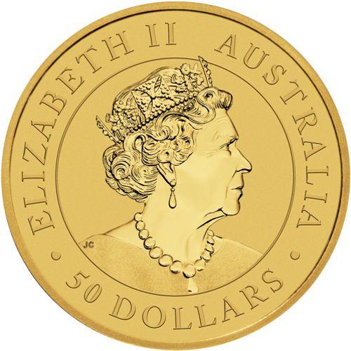 1/2oz. Australian Gold Kangaroo - OBV