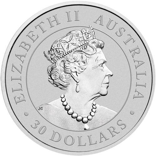 one kilo silver koala - obverse side