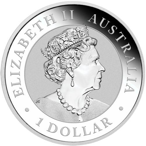 one oz silver koala - obverse side