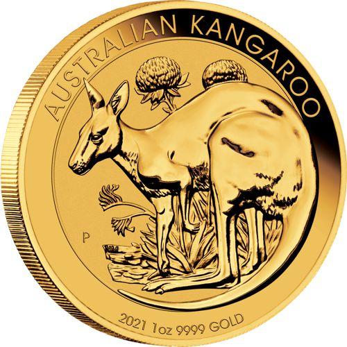1 oz. Australian Gold Kangaroo Bullion Coin - Reverse Side