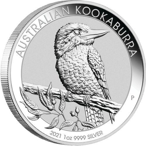 1oz. silver kookaburra - reverse side