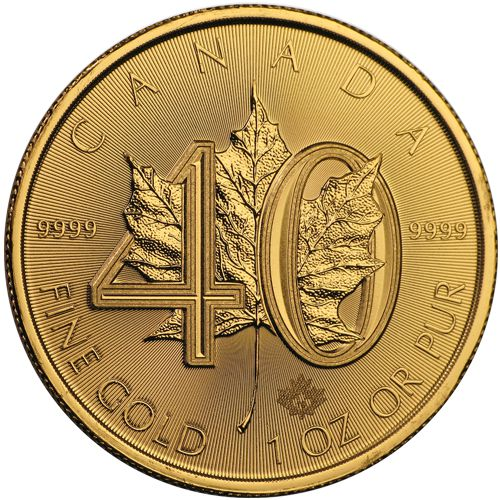 40th anniversary gold maple leaf