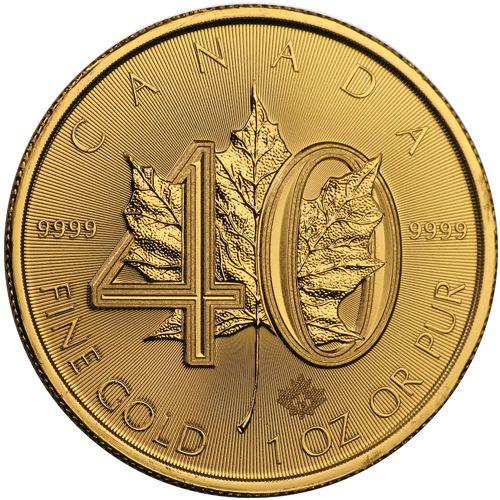 40th anniversary gold maple leaf