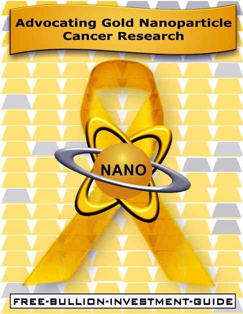 Gold Nanoparticle Cancer Awareness Ribbon of the Free Bullion Investment Guide