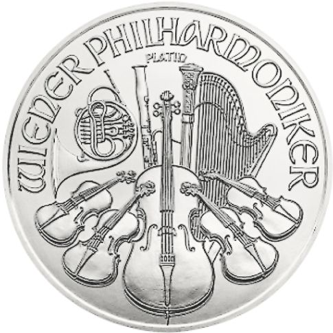 platinum philharmonic silver bullion coin