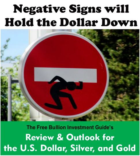 negative signs will hold down the dollar