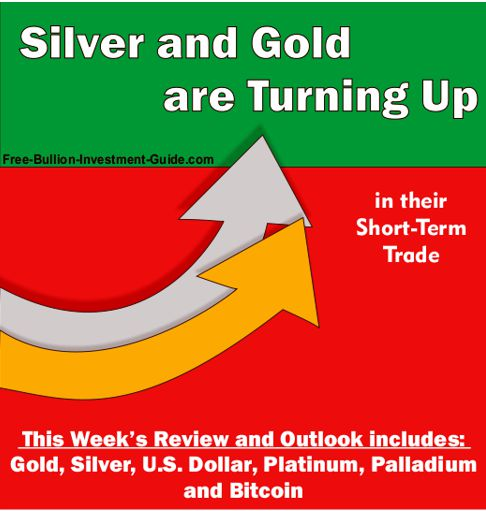 2017 - October 9th - Silver and Gold are Turning Up - in their short-term trade - graphic