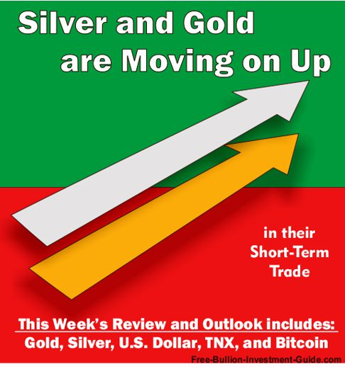 2017 - October 16th - Silver and Gold are Moving on Up - in their short-term trade - graphic