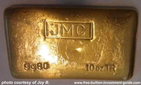 10oz johnson matthey gold bar