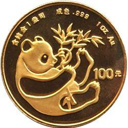1984 chinese gold panda